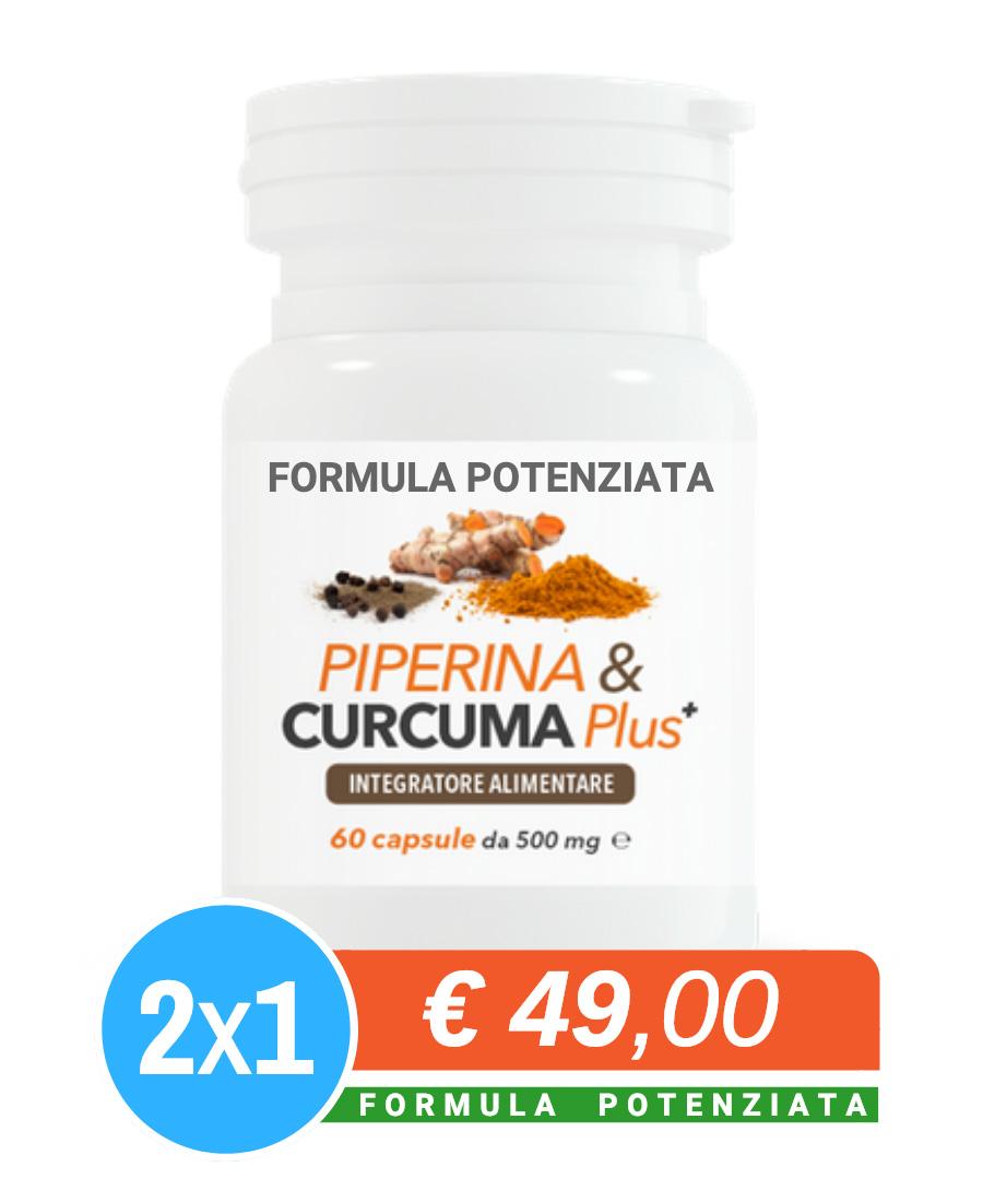 usare la curcuma piperina e curcuma plus