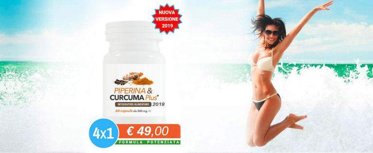 Piperina e Curcuma Plus: il miglior integratore naturale per dimagrire
